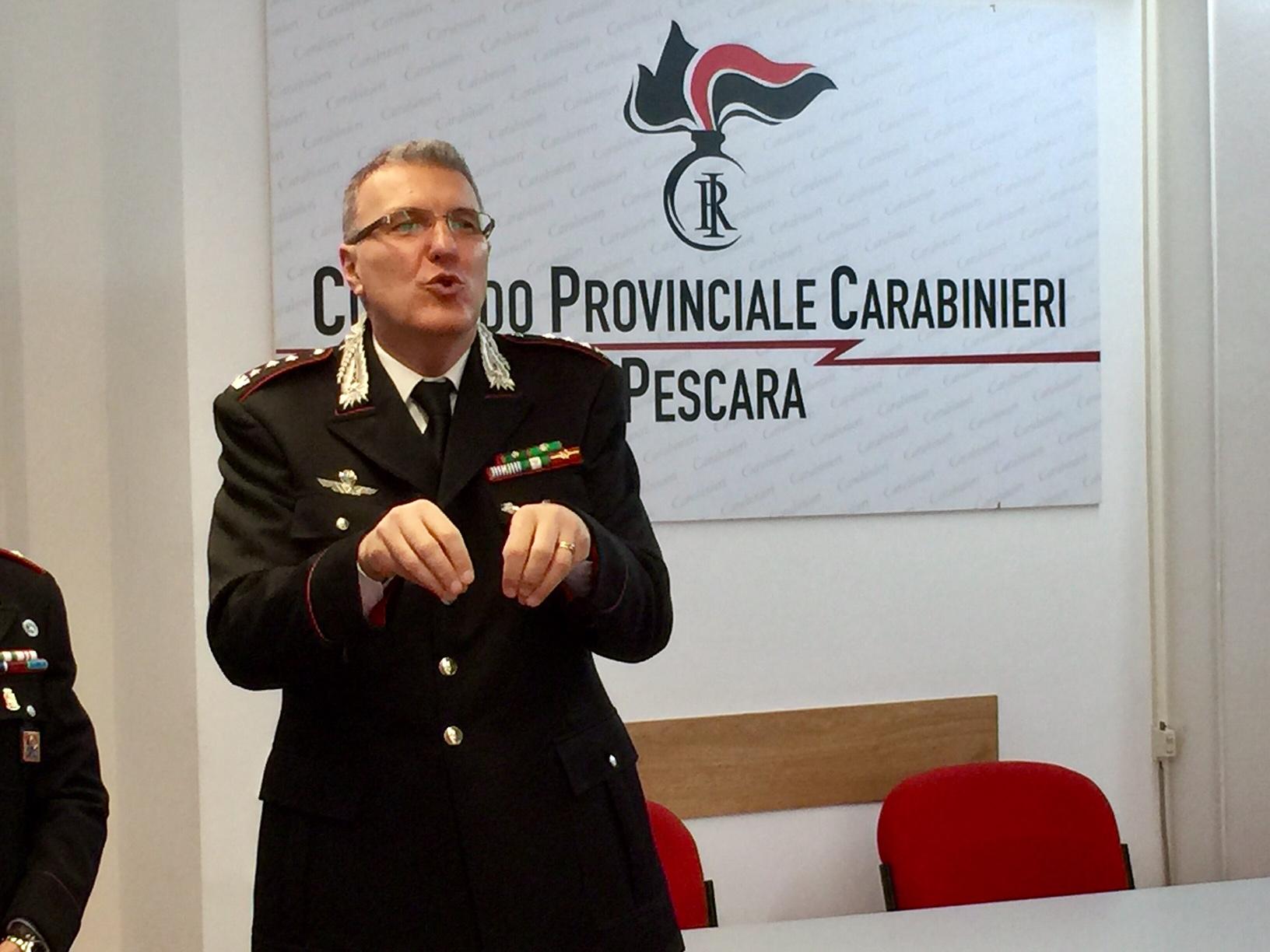 Il colonnello Marco Riscaldati