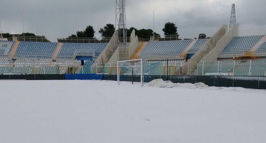 stadio pescara, neve