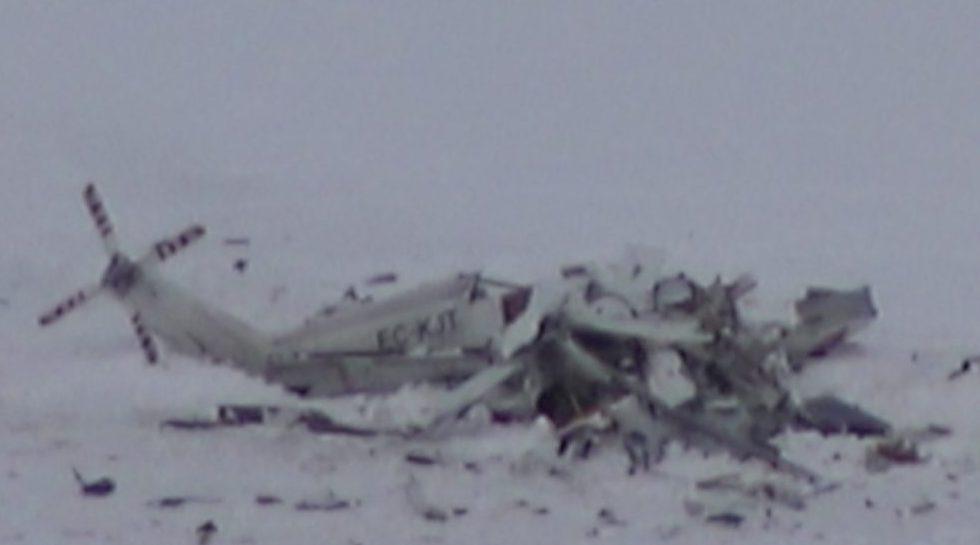 Elicottero Caduto : Domani il recupero dei resti dell elicottero caduto a