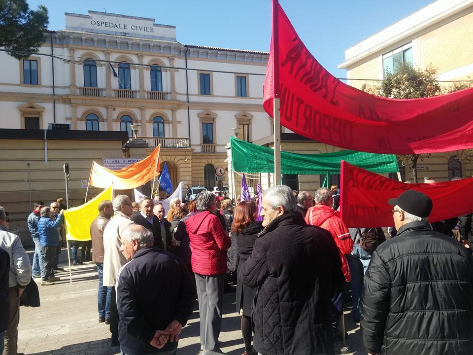 Protesta ospedale Popoli