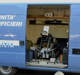 artificieri, polizia