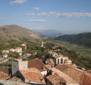Vista dalla Torre Medicea di Santo Stefano di Sessanio nel 2008