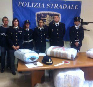 polizia-stradale-droga-sequestrata